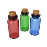 Mettez le breuvage magique en bouteille d'isolement sur le fond blanc, le rendu 3D Image stock