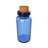 Mettez le breuvage magique en bouteille d'isolement sur le fond blanc, le rendu 3D Images libres de droits