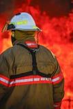 Mettez le feu à la formation d'école avec le feu et le pompier vivants Photo libre de droits