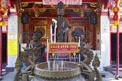 Mettez le temple de mâchoire dans la vieille ville de Phuket photos libres de droits