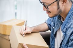 Mettez sur pied la PME d'entrepreneur de petite entreprise image stock