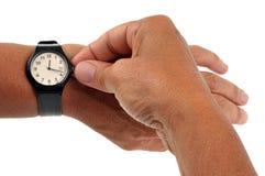 Mettez votre dos de montre à l'heure image stock