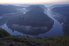 Mettlach - Saar Loop at sunrise Stock Photography