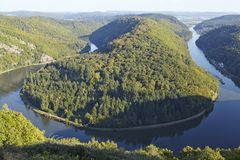 Mettlach (Saarland, Germany) - Saar Loop Stock Photo