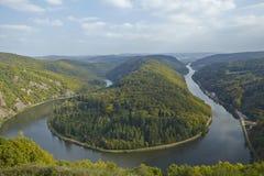Mettlach (Saarland, Tyskland) - Saar Loop Arkivbild