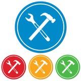 Mettre d'aplomb l'icône de symbole de travail Images libres de droits