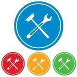 Mettre d'aplomb l'icône de symbole de travail Photos stock