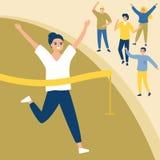 Mety Działającej kobiety Sportowy zwycięstwo Wygrany poj?cie Biegać fan Sport Sportowa Sportowa rywalizacja r?wnie? zwr?ci? corel royalty ilustracja
