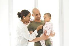 Metysów potomstwa rodzinni Fotografia Stock