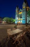 Metz alla notte Fotografia Stock Libera da Diritti