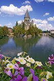 Metz France. Church in Metz,  France on Moselle river Stock Photo