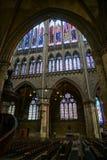 METZ, FRANCE/EUROPA - 24 DE SETEMBRO: Vista interior da catedral Fotos de Stock