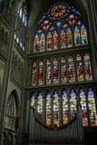 METZ, FRANCE/EUROPA - 24 DE SETEMBRO: Vista interior da catedral fotografia de stock royalty free