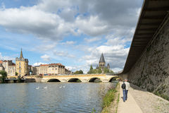 METZ, FRANCE/ EUROPE - SEPTEMBER 24: View of Temple Neuf in Metz Stock Photography