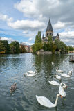 METZ, FRANCE/ EUROPE - SEPTEMBER 24: View of Temple Neuf in Metz Royalty Free Stock Image