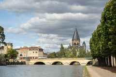 METZ, FRANCE/ EUROPE - SEPTEMBER 24: View of Temple Neuf in Metz Royalty Free Stock Photography