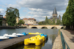 METZ, FRANCE/ EUROPE - SEPTEMBER 24: View of Temple Neuf in Metz Stock Images