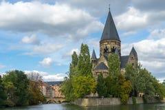 METZ, FRANCE/ EUROPE - SEPTEMBER 24: View of Temple Neuf in Metz Stock Photos
