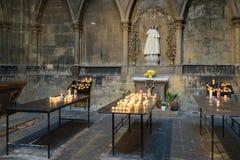 METZ, FRANCE L'EUROPE - 24 SEPTEMBRE : Intérieur de cathédrale de SA Photos libres de droits