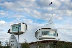 METZ, FRANCE L'EUROPE - 24 SEPTEMBRE : Vue du centre de Pompidou Photos stock