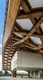 METZ, FRANCE L'EUROPE - 24 SEPTEMBRE : Vue du centre de Pompidou Image stock