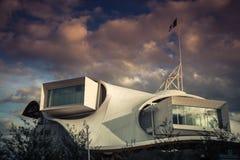 METZ, FRANCE L'EUROPE - 24 SEPTEMBRE : Vue du centre de Pompidou Photographie stock libre de droits