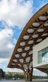 METZ, FRANCIA EUROPA - 24 SETTEMBRE: Vista del centro di Pompidou fotografia stock libera da diritti