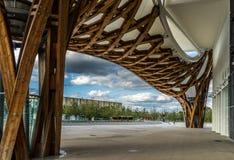 METZ, FRANCIA EUROPA - 24 SETTEMBRE: Vista del centro di Pompidou Immagini Stock