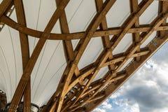 METZ, FRANCIA EUROPA - 24 SETTEMBRE: Vista del centro di Pompidou Fotografia Stock
