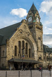 METZ, FRANCIA EUROPA - 24 SETTEMBRE: Vista della stazione a Metz fotografie stock