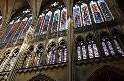 Metz Francja, Lipiec, - 25 2016: katedra Zdjęcie Royalty Free