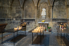 METZ, FRANKRIJK EUROPA - 24 SEPTEMBER: Binnenland van Kathedraal van Sa Royalty-vrije Stock Foto's