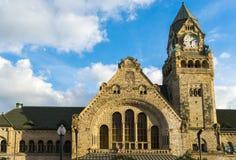 METZ, FRANKRIJK EUROPA - 24 SEPTEMBER: Mening van de Post in Metz Stock Foto's