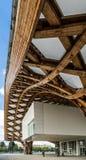 METZ FRANKRIKE EUROPA - SEPTEMBER 24: Sikt av den Pompidou mitten fotografering för bildbyråer