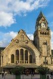 METZ FRANKRIKE EUROPA - SEPTEMBER 24: Sikt av stationen i Metz Arkivfoto