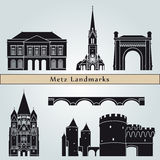 Metz landmarks and monuments Royalty Free Stock Images