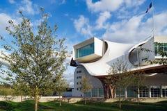 METZ LORRAINE/FRANCE - SEPTEMBER 24: Sikt av den Pompidou cent Arkivbild