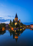 Metz at Night Stock Photos
