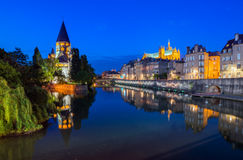 Metz Reflections at Night Stock Photography