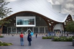 Metz samtida konstmuseum - Centre Pompidou royaltyfri bild