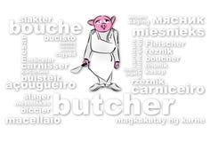 Metzger Pig Lizenzfreie Stockbilder