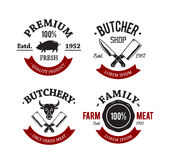 Metzger Shop Emblems Lizenzfreies Stockfoto
