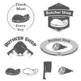 Metzger Shop Logo Lizenzfreie Stockbilder