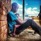 Meu amigo Mlu e sua sobrinha Fotografia de Stock Royalty Free