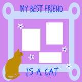 Meu amigo o gato imagem de stock royalty free