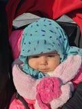 Meu bebê no inverno foto de stock royalty free