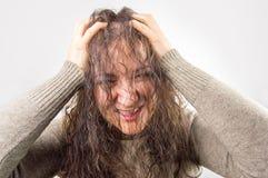 Meu cabelo é danificado foto de stock