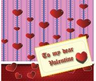 Meu caro Valentim Imagem de Stock Royalty Free