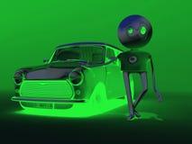 Meu carro verde Fotos de Stock