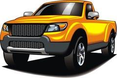 Meu carro 4x4 original (meu projeto) na cor amarela Foto de Stock Royalty Free